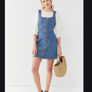 Denim Overalls Dress Urban Outfitters size M